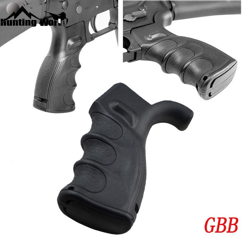 Pistola de polímero táctico agarre QD agarre Vertical Bipod plegable mango de agarre para caza Airsoft M4 M16 AR15 Rifle accesorio