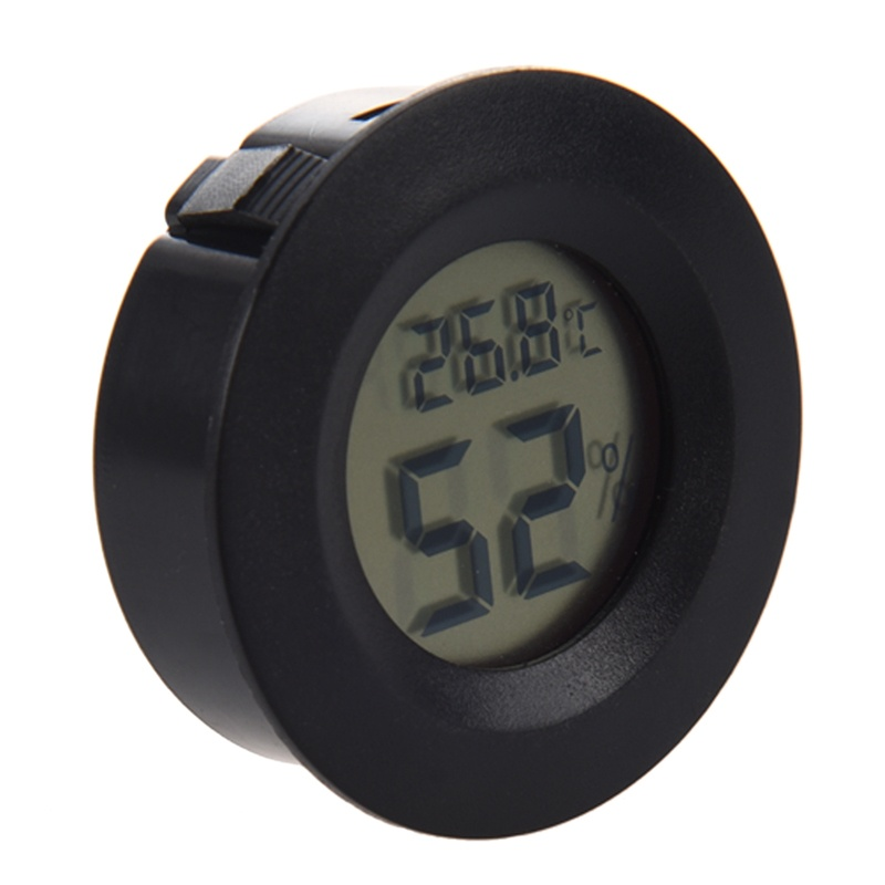 Mini Digital Hygrometer Thermometer Humidity Celsius (Black)