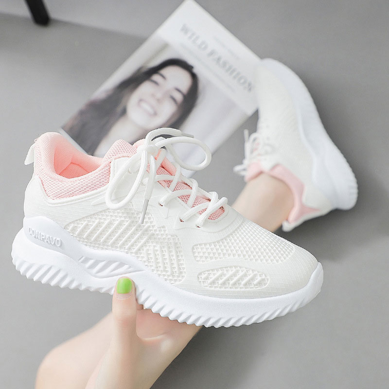 Women Sneakers Shoes 2020 Fashion White Sneakers Women Lace-up Breathable Casual Shoes Woman Sneakers Feminino White Shoes