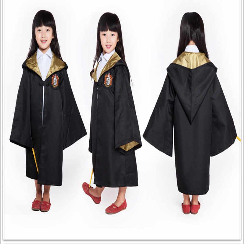 מבוגרים ילדים הרמיוני גריינג 'ר תלבושות גלימות עניבת גריפינדור צעיף רייבנקלו בגדי מעטפת סלית' רין הפלפאף גברים נשים גלימות