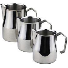 Pichet à lait en acier inoxydable, épais, pour faire mousser le café, style italien, 350/500/700Ml
