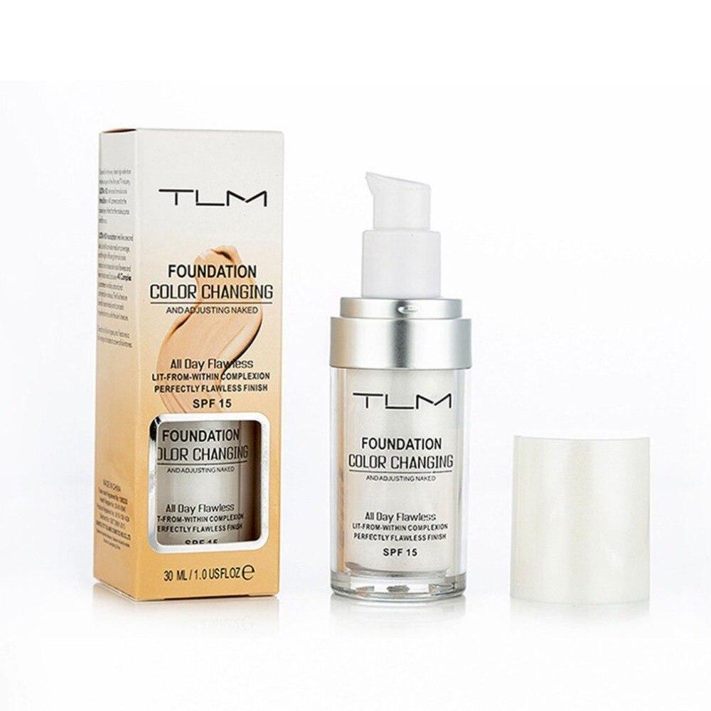 Жидкая основа для макияжа TLM 30 мл, Волшебная изменяющая Цвет основа для макияжа, покрытие для лица, консилер, долговечный макияж, тонус кожи, ...