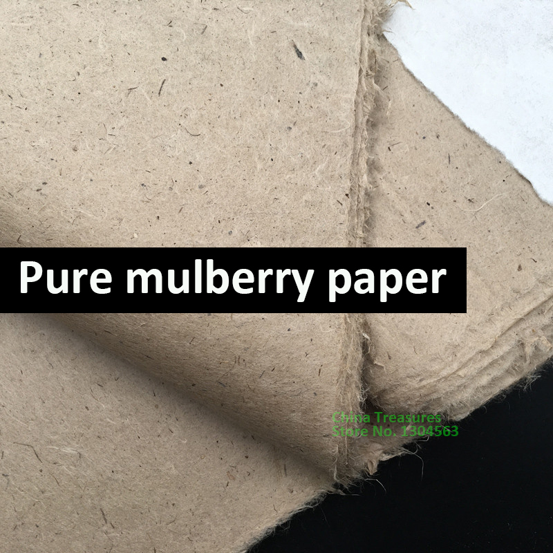 10sheets/lot Chinese Pure Mulberry Paper Antique Method Handmade  Natural Color Calligraphy Painting Rice Paper Xuan Zhi