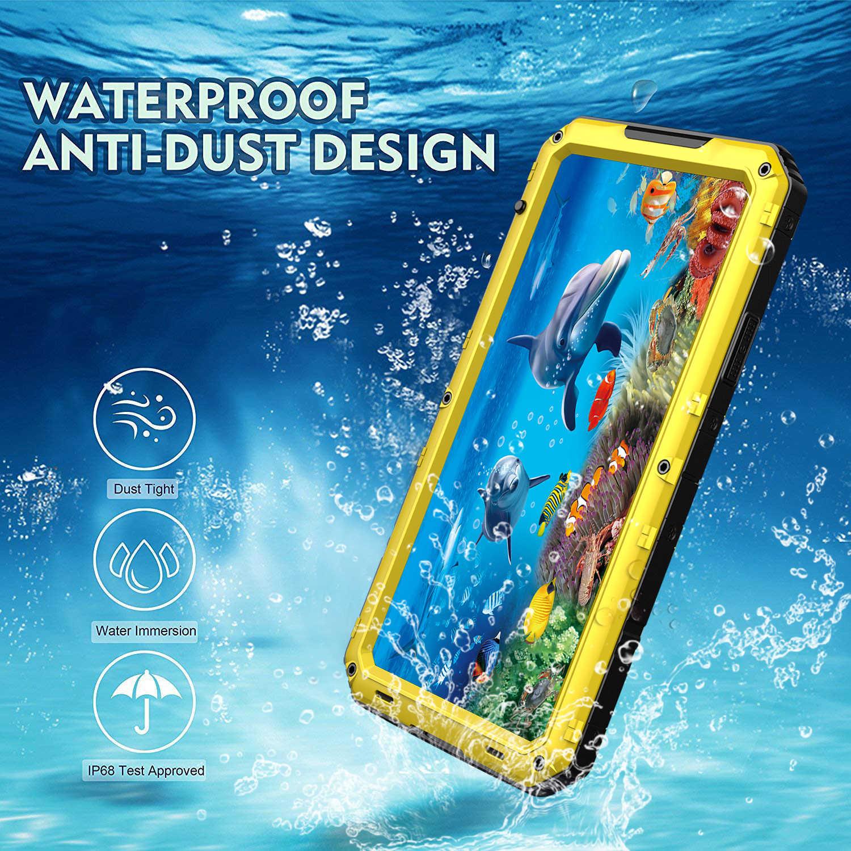 Per iphone SE 2 2020 custodia protettiva in metallo per immersioni subacquee per iphone 6 6S 7 8 Plus 360 Cover posteriore con protezione completa ...