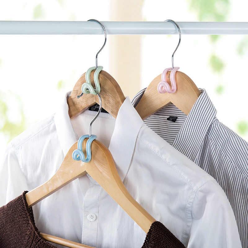 5 יח'\אריזה החלקה טנדם קולב וו מיני וו בגדי בגדי אחסון ארון ארגונית אבזרים