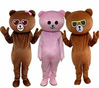 New Adults Size Cosplay Brown Bear Mascot Costume Suit Party Game Fancy Dress Outfit Advertising Parade Animal Costume Cute Beer