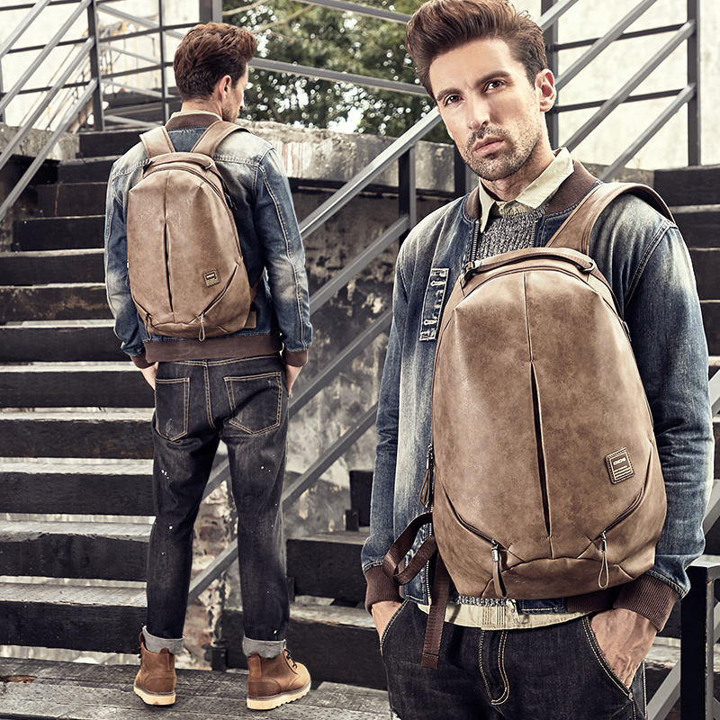 DIDE Vintage Male Backpacks Mochila laptop backpack 15 6 men waterproof usb charging Man 39 s 14 inch travel Casual Bagpack for Men in Backpacks from Luggage amp Bags
