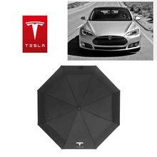 Car Accessories For Tesla Logo Fully Automatic Umbrella