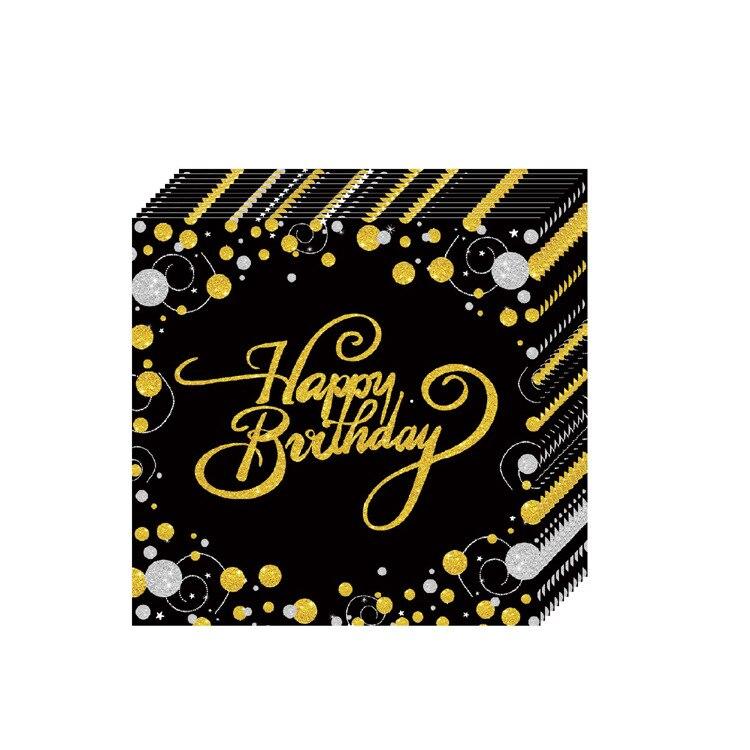 Internacional de puntos /& Stripes Fiesta Servilletas 30th Cumpleaños Aniversario Servilletas