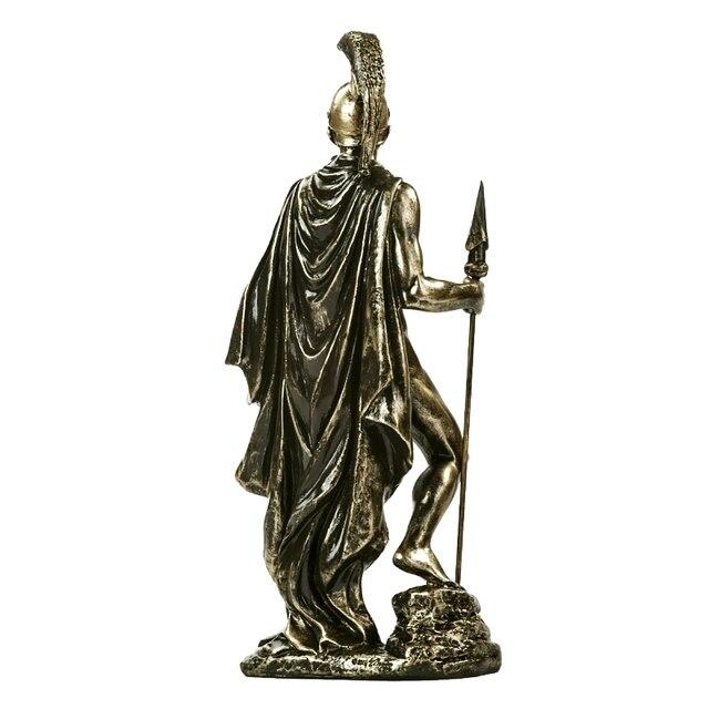 Ancient Greek Spartan Warrior Sculpture Handmade Resin Fighter 4