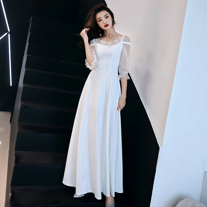 2020 Direct Selling Bridesmaid Dresses Long Temperament Women 2020 New Party Sexy Show Thin Fashion Noble Long