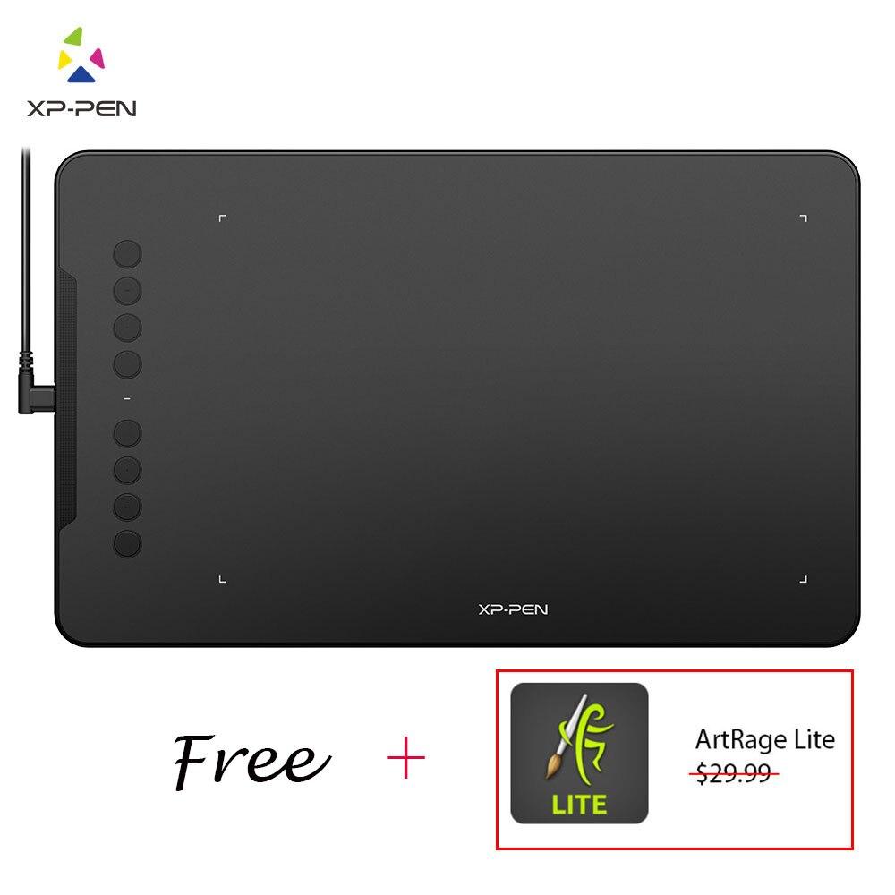 XP-Pen Deco 01 V2 tableta gráfica Digital con inclinación para Android y 8 teclas de acceso directo (8192 los niveles de presión) para principiantes