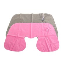 Inflatable Pillow Air Cushion Neck Rest U-Shaped Compact Plane Flight Travel Pillows Home Textile Drop Shipping massage inflatable neck pillow inflatable u shaped travel pillow car head neck rest air cushion for travel neck pillow
