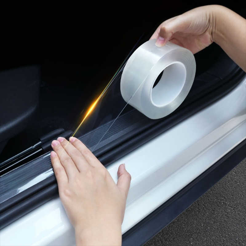 Auto Deur Edge Guard Verf Beschermende Film Anti-Scratch Wrap Sticker Mouldings Deur Kras Protector Auto Anti-Collision tape