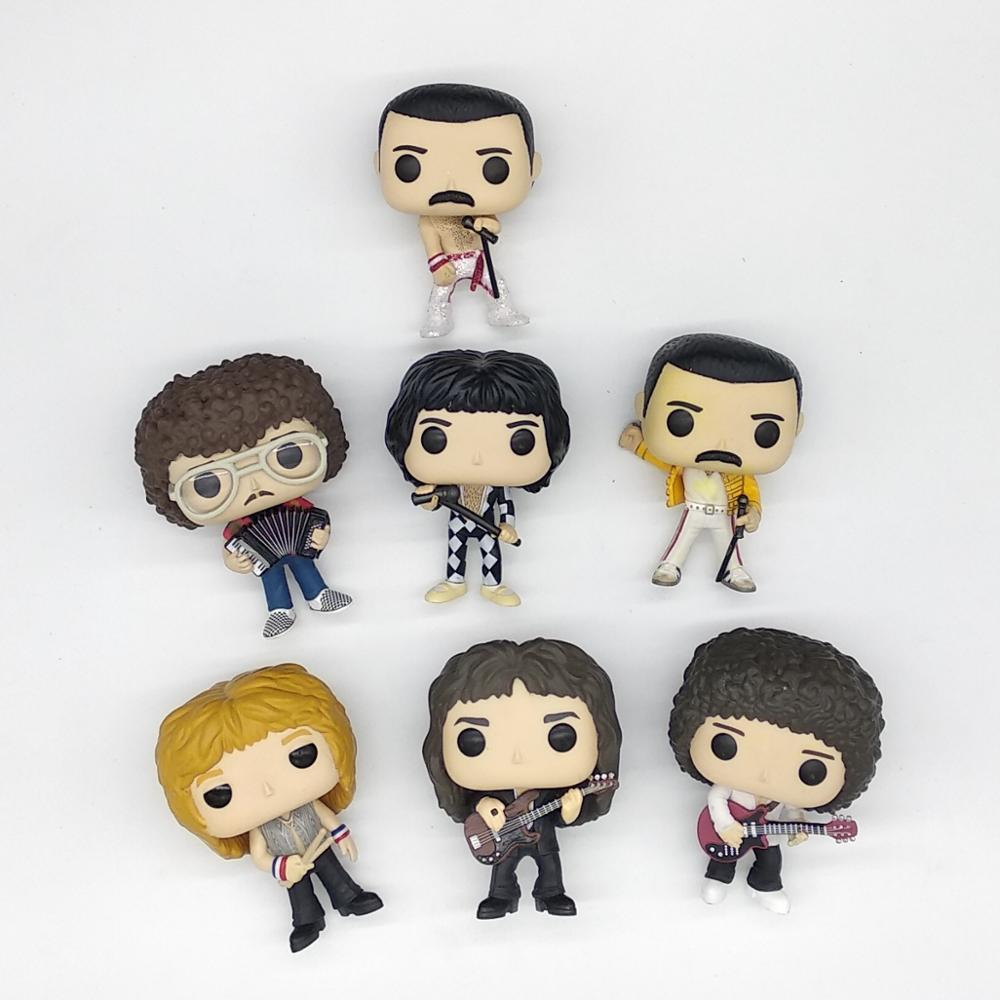 Original Queens-rocks Roger Taylor /John Deacon/FREDDIE MERCURY /Brian May/band Model Toy Vinyl Figure No Box