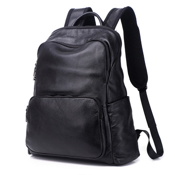 Men's Genuine Cow Leather Backpack Laptop Male School Bag High Quality Men Daypacks Style Casual Travel Bag business bag