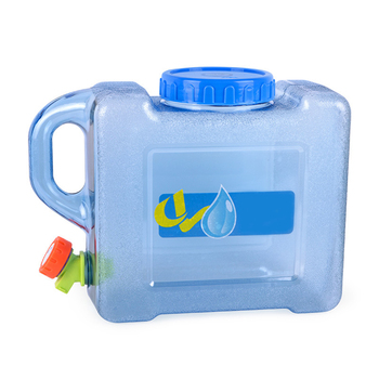 5L Water Bags Car Driving Water Bucket Thickened Portable Water Container With Faucet Camp Cooking Supplies Camping Hiking