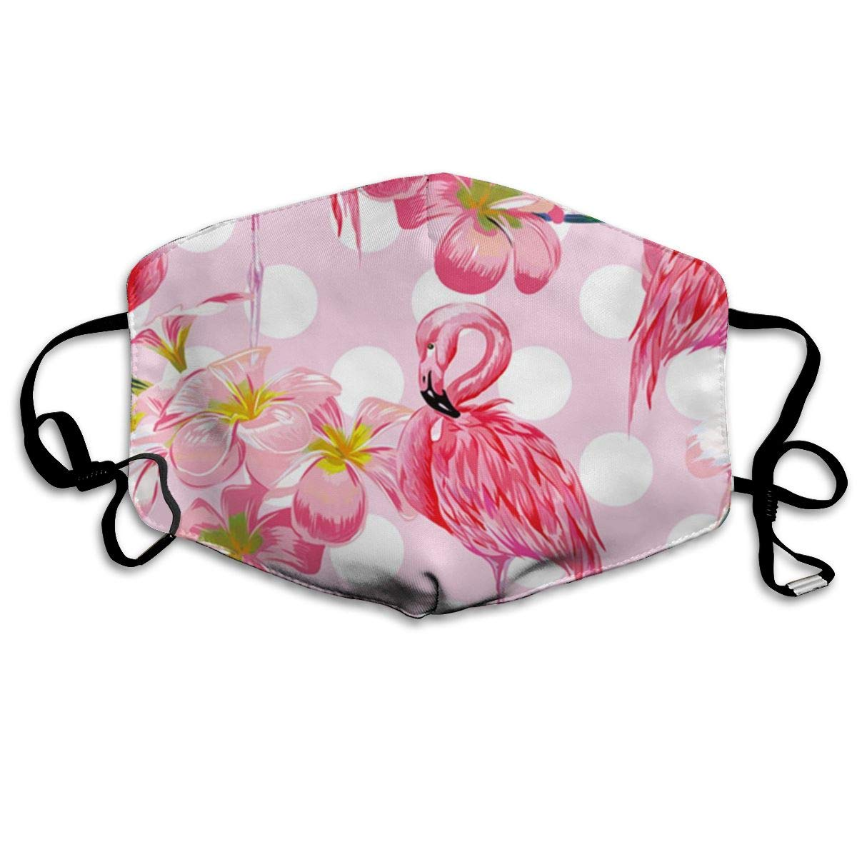 Mouth Mask Flamingo Bird Polka Dot Print Masks - Breathable Adjustable Windproof Mouth-Muffle, Camping Running For Women And Men