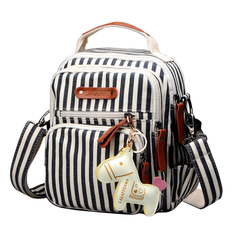 Striped Women Diaper Bag Fashion Waterproof Mom Nappy Bag Travel Backpack For Baby Nursing Multifunction Mother Diaper Handbag