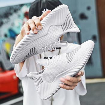 Męskie buty wulkanizowane trampki męskie obuwie wiosna jesień siatkowe trampki lekkie oddychające męskie buty sportowe Dropshipping tanie i dobre opinie AODLEE Mesh (air mesh) Fabric Totem Stałe Dla dorosłych Płótno Wiosna jesień Mens Vulcanized Shoes Sneakers Women Lace-up