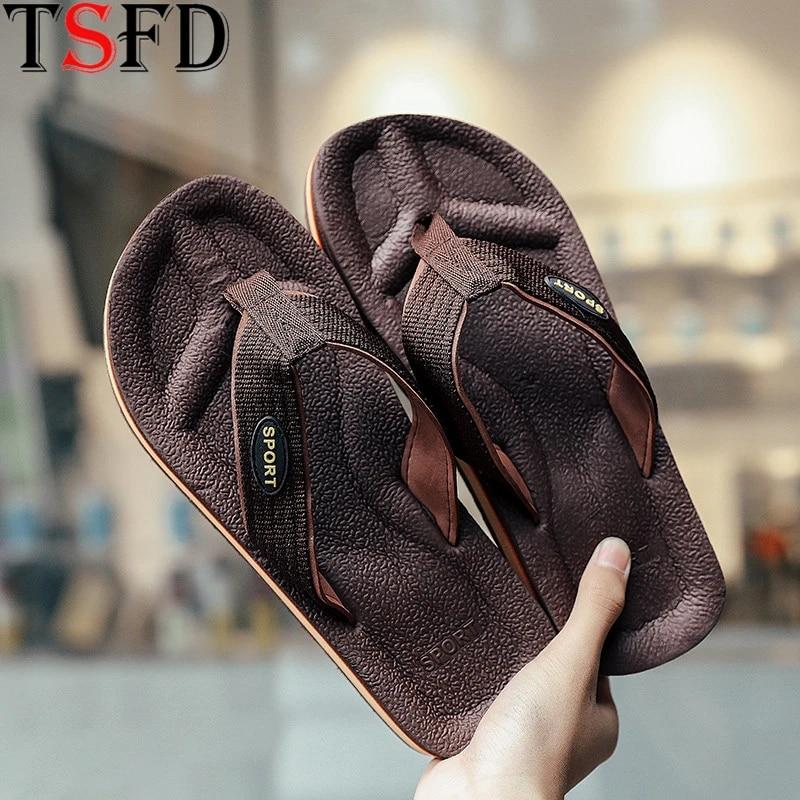 Men Summer Flipflops Beach Pool Slippers Light Casual Sandals Fashion Flat Shoes