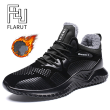 FLARUT Men Winter Sneakers Outdoor Sports Running Shoes Warm