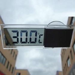 Lcd digital medidor de temperatura casa interior ao ar livre ventosa carro termômetro interior conveniente sensor temperatura umidade
