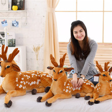 1pcs Cute simulation animal sika deer plush toy doll soft pillow children birthday gift personality home decoration104
