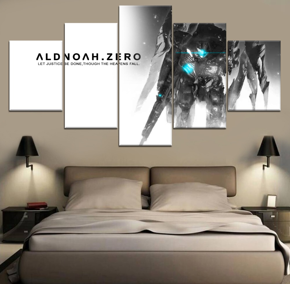 5 Pieces Poster Aldnoah Zero Anime Picture Top-Rated Canvas Print Wall Art Decorative Modular Home Room Living Modern Artwork image