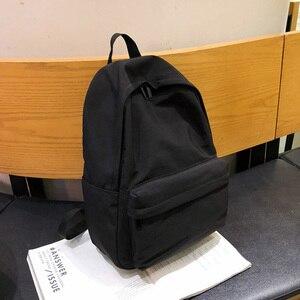Image 5 - HOCODO katı tuval gençler için sırt çantası kadın rahat büyük kapasiteli okul çantası basit kolej rüzgar seyahat sırt çantası Mochila