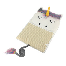 Cat Scratch Mat Pad Board Bed Unicorn Cute Type Nail Scratching Hanging Toys Claw Grind