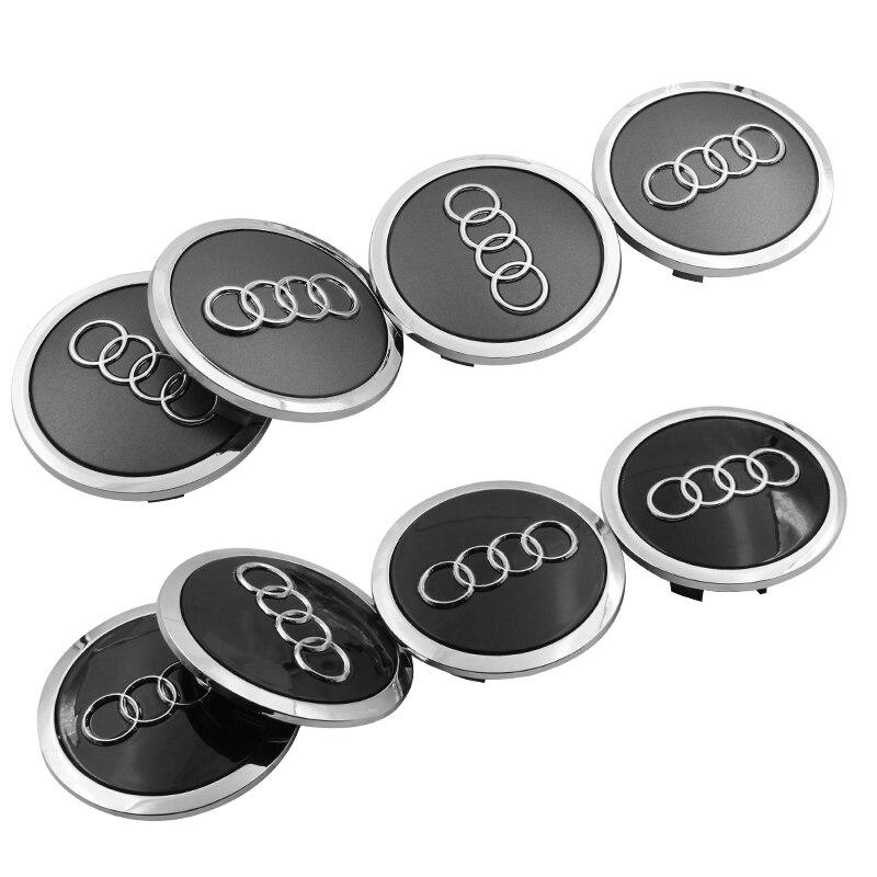 4pcs 69mm Car Tire Wheel Hub Center Caps car badge Cover For Audi a3 a4 a5 a6 a7 a8 Q3 Q4 Q5 Q6 Q7 b8 b6 car accessories