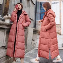 Vrouwen Down Katoen Winter Jas Super Lange Hooded Parka Studenten Losse Vrouwelijke Jasje Warme Bovenkleding Winter Jassen C5872