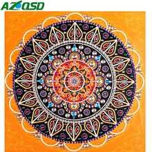 AZQSD Diamond Painting 5d Mandala Partial Special Shaped Round Drill Embroidery Flower Mosaic Wall Arts Gift Handmade Diy 30x30