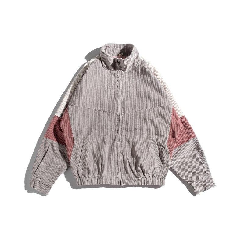 Осенняя новая мужская куртка, модная, потертая, одноцветная, повседневная, рабочая, куртка, пальто, Мужская Уличная, дикая, свободная, куртка ... - 4