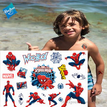 Hasbro Marvel Batman Spiderman Aveng Kinderen Cartoon Tijdelijke Tattoo Sticker Voor Jongens Cartoon Speelgoed Waterdicht Party Kids Gift()