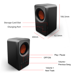 Image 5 - M & J TWS Bluetooth 5.0 רמקול נייד חיצוני נטענת אלחוטי רמקולי Soundbar סאב רמקול TF MP3