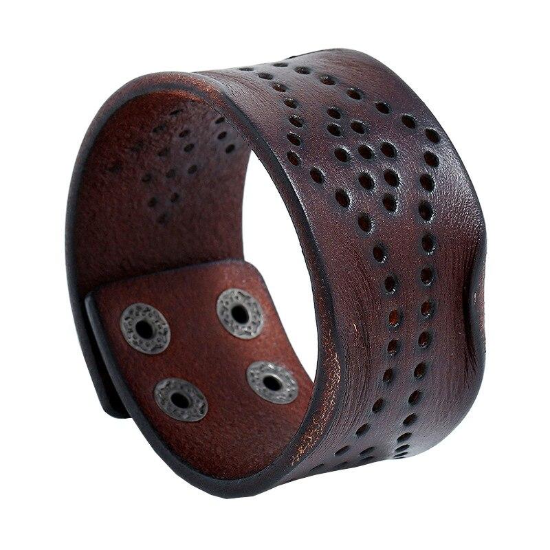 Модные мужские туфли из натуральной кожи браслет широкий обруч манжета панк-браслет ювелирные изделия логотипом отличный подарок для мужч...