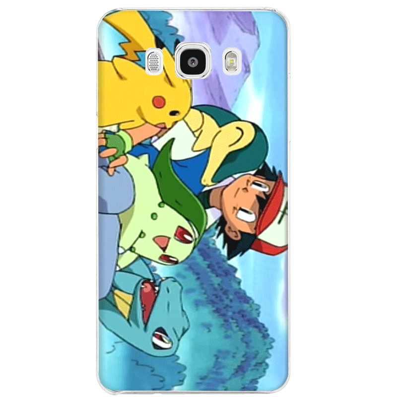 Mobile Phone Case untuk Samsung S7 Edge S8 S9 S10 Plus Note 8 9 10 M10 M20 M30 M40 Pokemons ash dan Pikachus