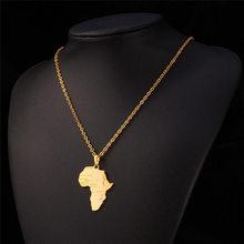 Fashion Globe World Map Africa Country Map Pendant Necklace Personalized Hiphop Map of Africa Necklaces Women Men Jewelry(China)