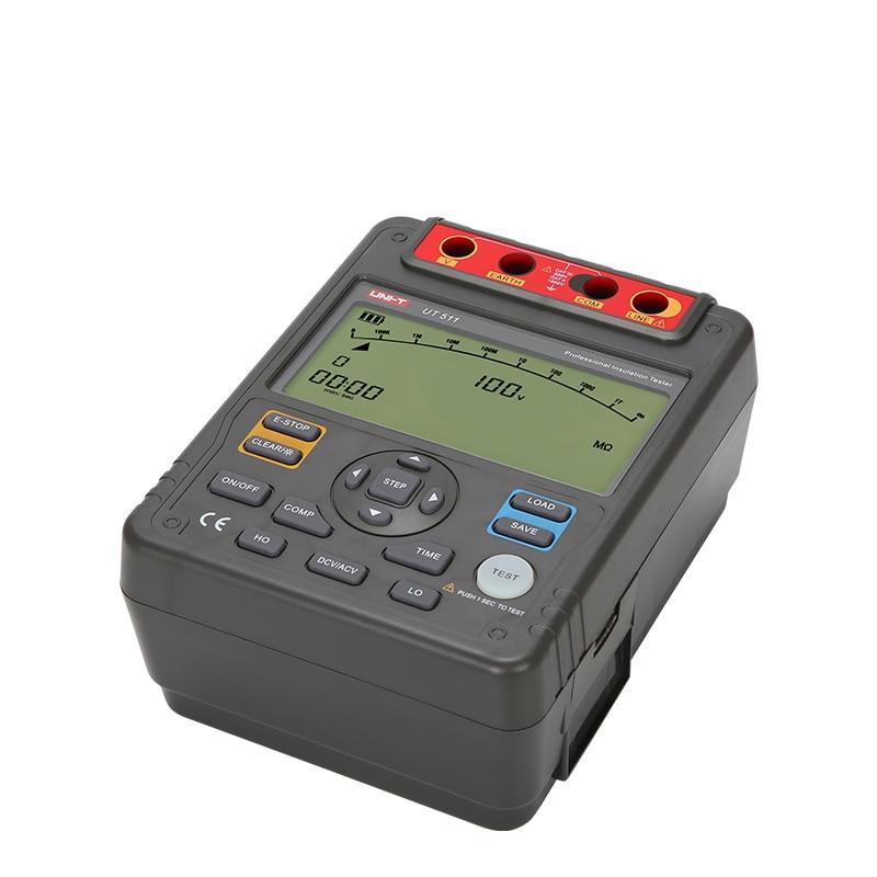 UNI T UT511 Digital Insulation Low Resistance Testers Megohmmeter Diagnostic Tool Data Storage Auto range Meter in Resistance Meters from Tools