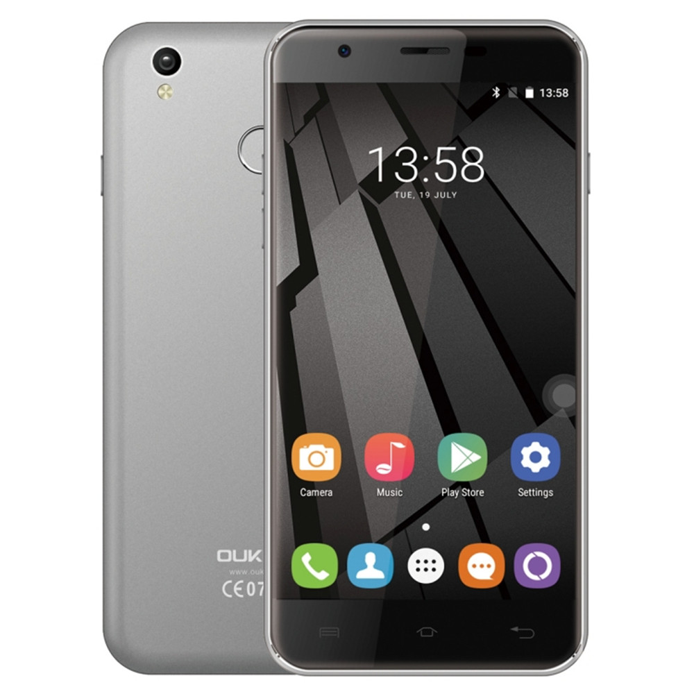 Original OUKITEL U7 Plus 2GB 16GB Android Smartphone Fingerprint Identification 4G LTE 13.0MP 5.5'' OTG Mobile Smart Cell Phone