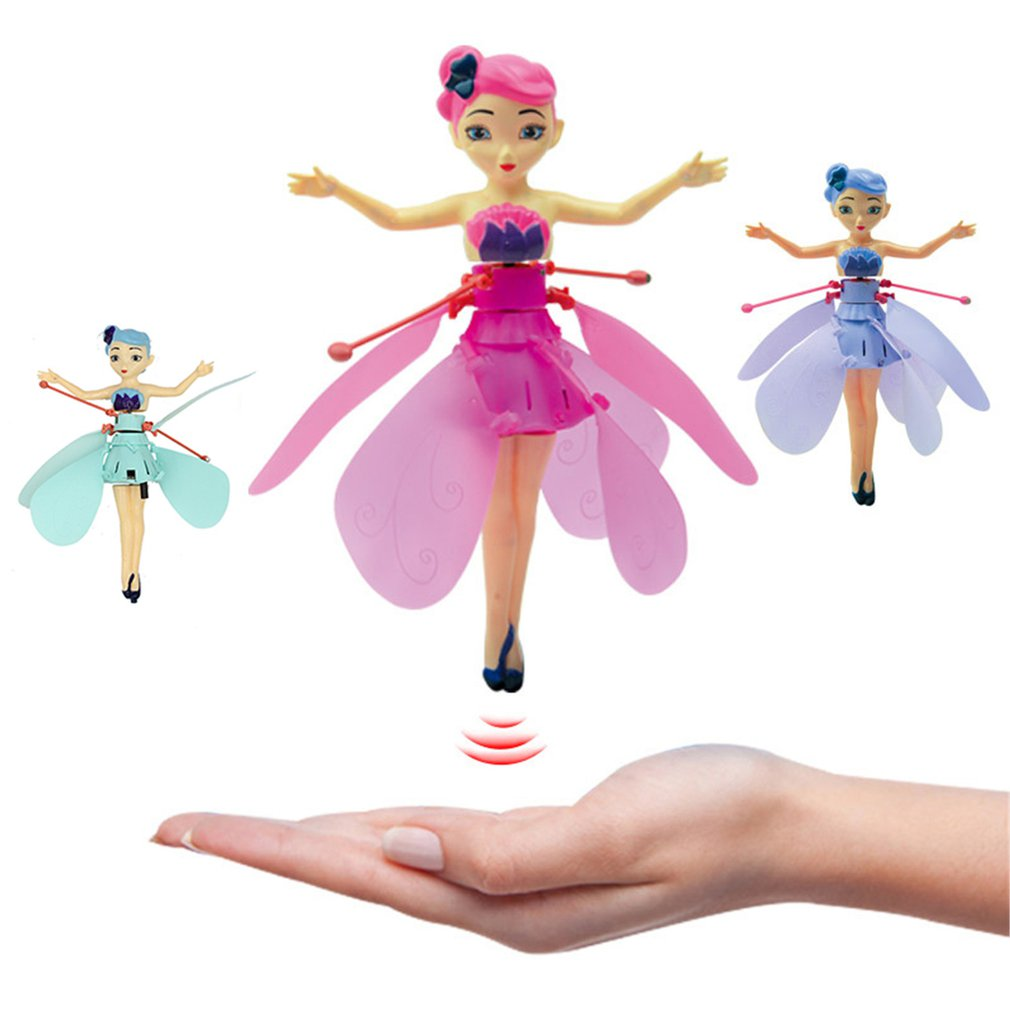 Fairy Doll Children's New Flower Fairy Cartoon Inductive Flying Machine Strange Gesture Sensing Flitter Dolls For Kids Xmas Gift