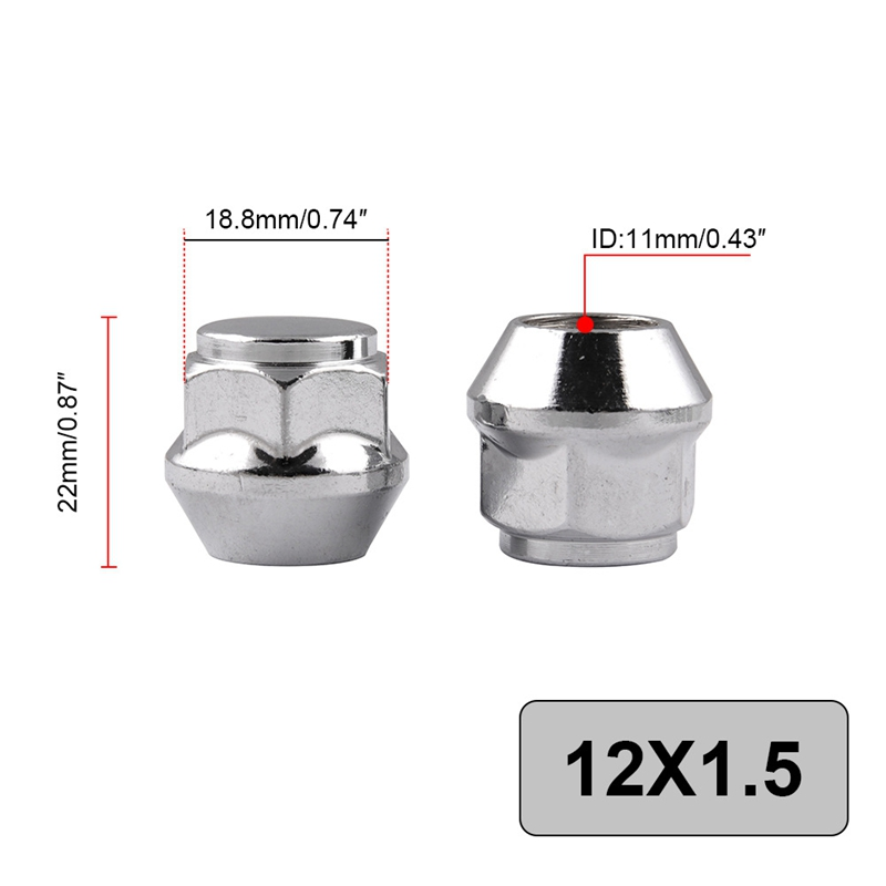 TOP 20Pcs M12 X P1 5 Car Surface Plating Nuts Fit for Honda with a Sleeve in Nuts from Home Improvement
