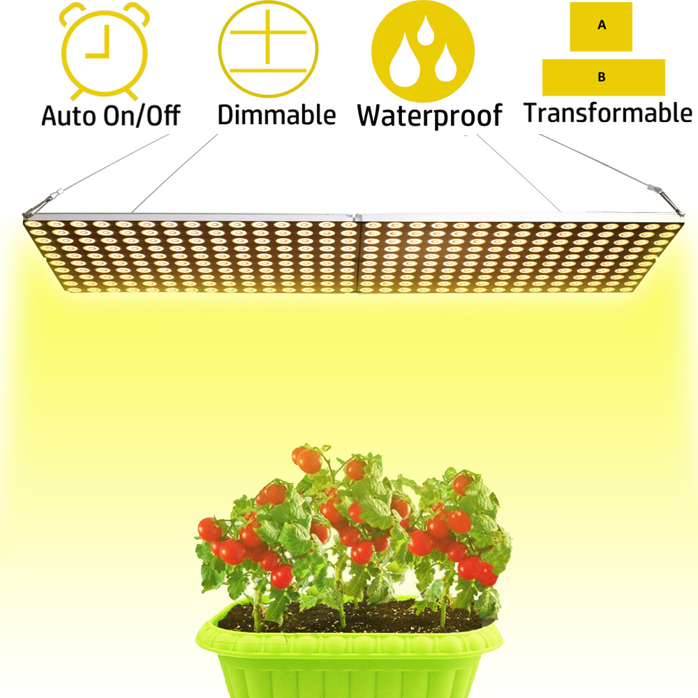 JCBritw 1000W LED Grow Light Full Spectrum IP65 Waterproof Dimmable Auto On/Off Timer Plant Growing Lamps for Indoor Plants