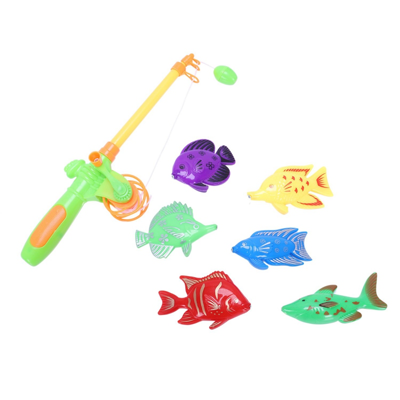 Learning & education magnetic fishing toy comes with 6 fish and a fishing rods, outdoor fun & sports fish toy gift for baby/kid