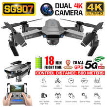 Drone sg907 4k câmera x50 zoom, grande anti shake 5g wifi fpv gesto, foto, gps, profissional, drone helicóptero rc quadcopter natal