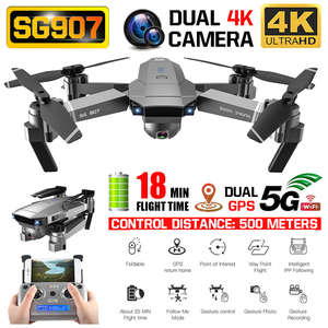 Image 1 - SG907 Drone 4 K Camera X50 Zoom Wide Anti Shake 5G Wifi Fpv Gebaar Foto Gps Professionele Dron rc Helicopter Quadcopter Xmas