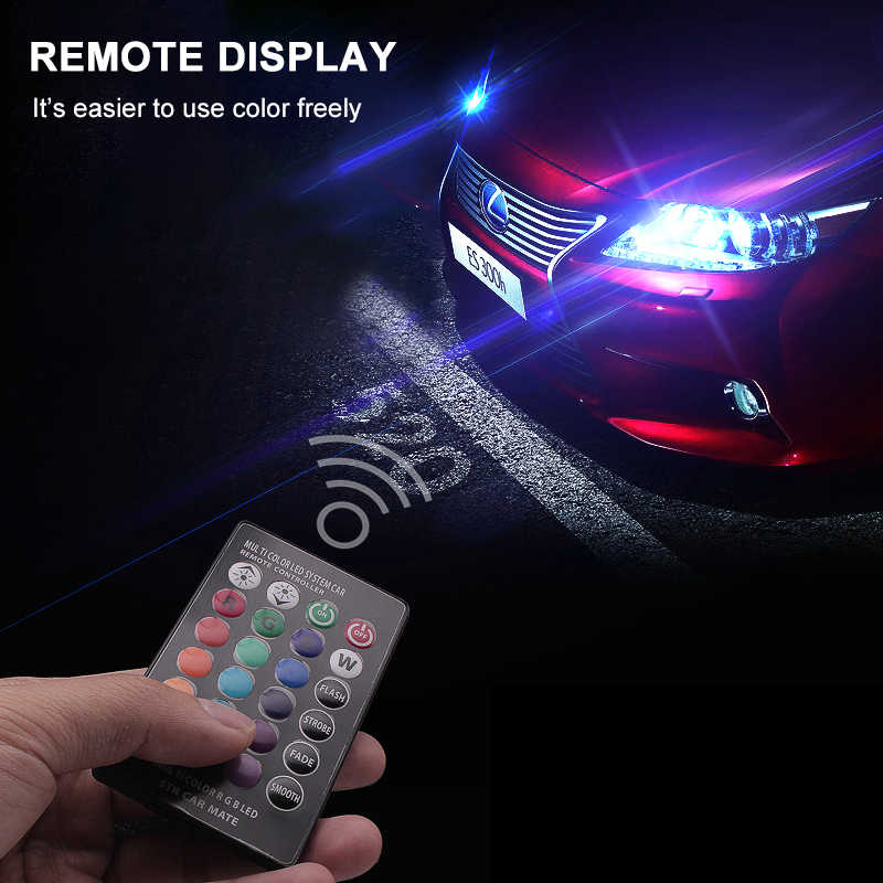 Car RGB LED 12V T10 LED RGB 5050 SMD Signal Lamp Reading Light Car Interior Auto