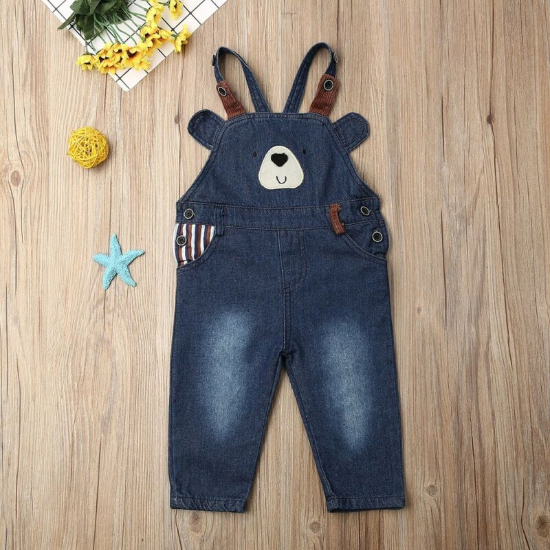 Boy Jeans Trousers Overalls Jumpsuit Clothing Long-Pants Dungarees Toddler Infant Baby title=